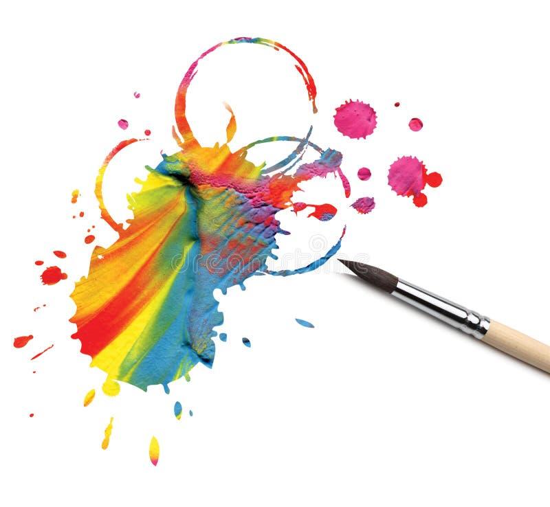 βούρτσα που χρωματίζετα&iota στοκ εικόνες