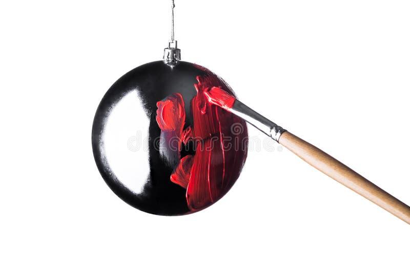 Βούρτσα χρωμάτων παιχνιδιών Χριστουγέννων στοκ εικόνες