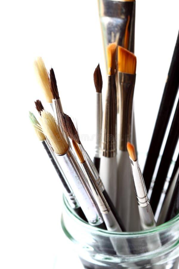 βούρτσες καλλιτεχνών στοκ φωτογραφία