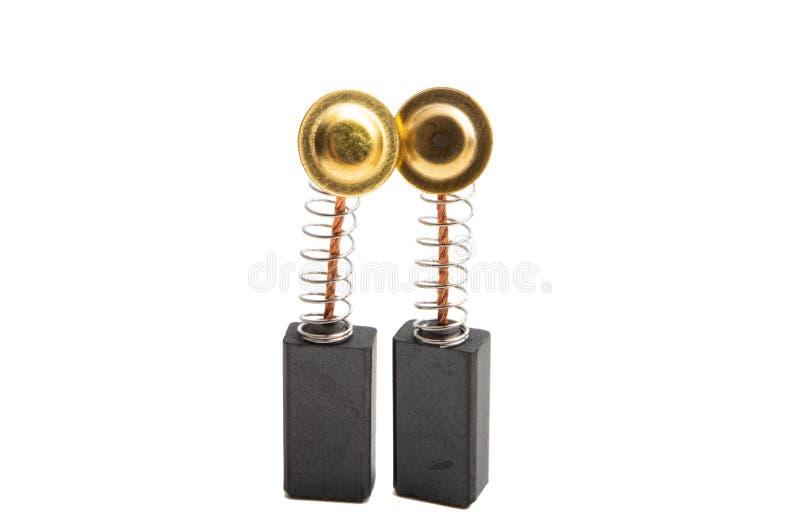 βούρτσες συλλεκτών ηλεκτρικών κινητήρων που απομονώνονται στοκ εικόνα