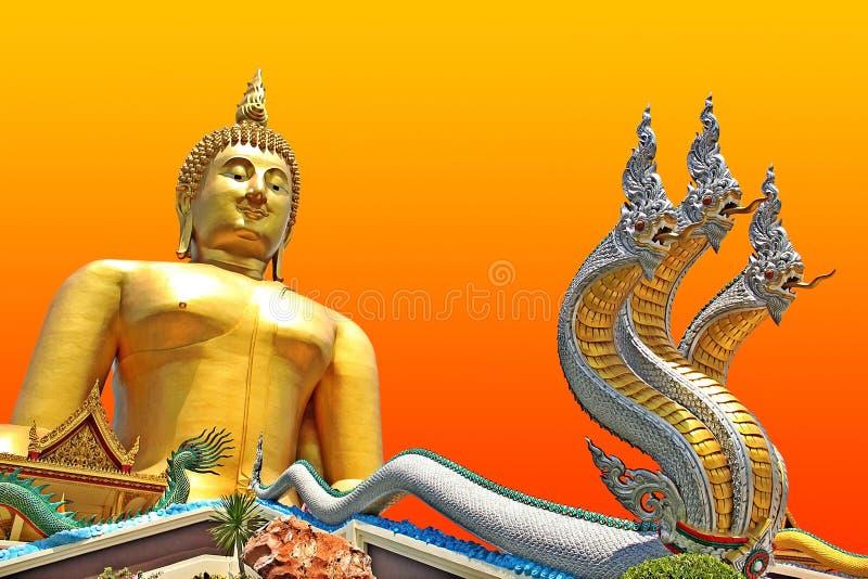 Βούδας με Nagas στοκ φωτογραφίες