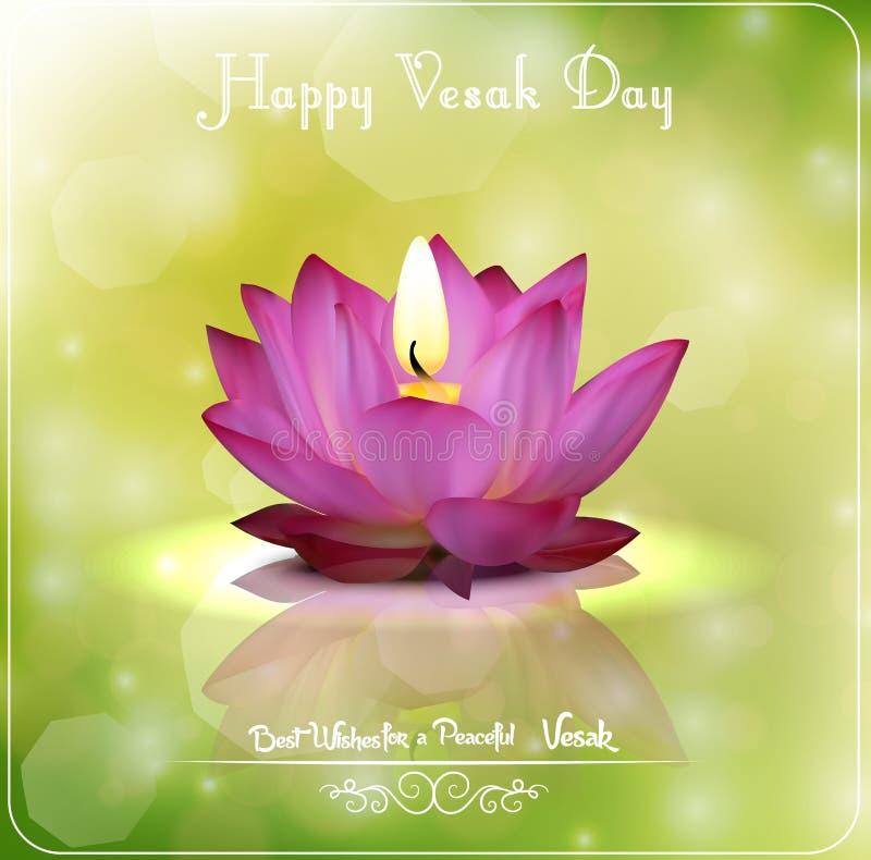 Βούδας Purnima ή ευτυχής ημέρα Vesak ελεύθερη απεικόνιση δικαιώματος