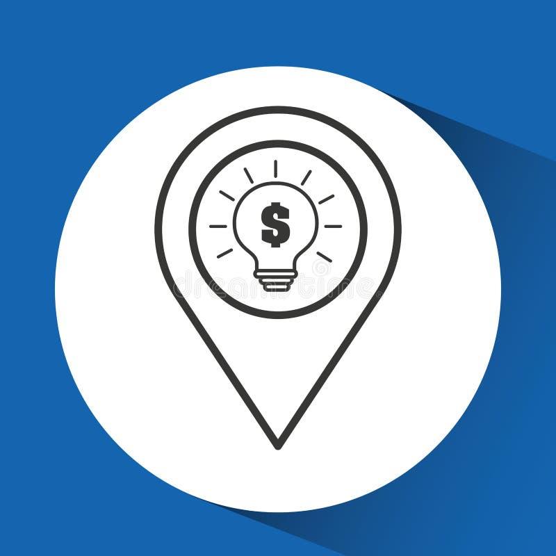 Βολβός ιδέας ηλεκτρονικού εμπορίου έννοιας γραφικός απεικόνιση αποθεμάτων