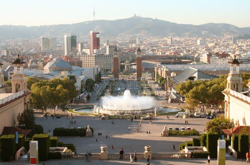 βράδυ της Βαρκελώνης στοκ φωτογραφίες με δικαίωμα ελεύθερης χρήσης