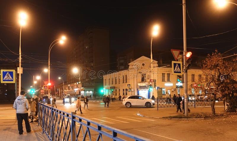 Βράδυ φθινοπώρου οδών πόλεων στοκ εικόνα με δικαίωμα ελεύθερης χρήσης