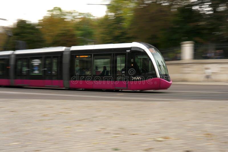 Βράση της τροχιοδρομικής γραμμής της Ντιζόν, Γαλλία στοκ εικόνες