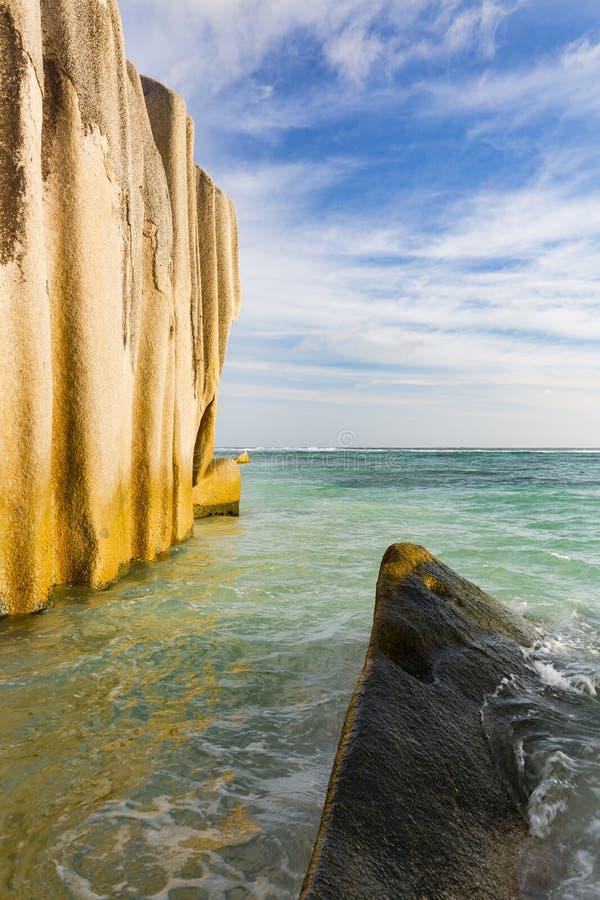 Βράχοι γρανίτη, Λα Digue, Σεϋχέλλες στοκ φωτογραφίες