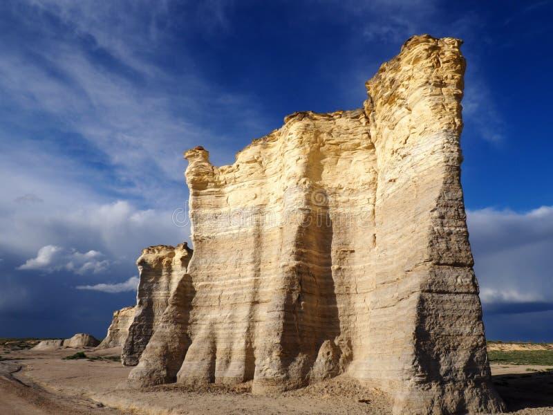 Βράχοι μνημείων, Κάνσας στοκ φωτογραφία με δικαίωμα ελεύθερης χρήσης