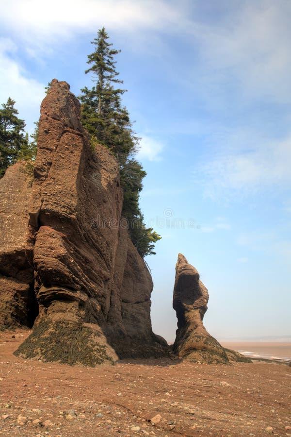 Βράχοι Νιού Μπρούνγουικ Hopewell στοκ φωτογραφίες
