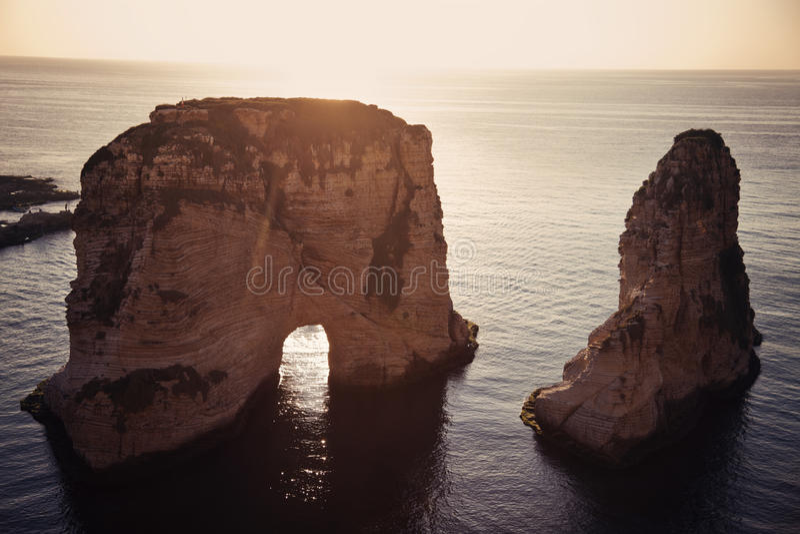 βράχοι περιστεριών στοκ φωτογραφία με δικαίωμα ελεύθερης χρήσης