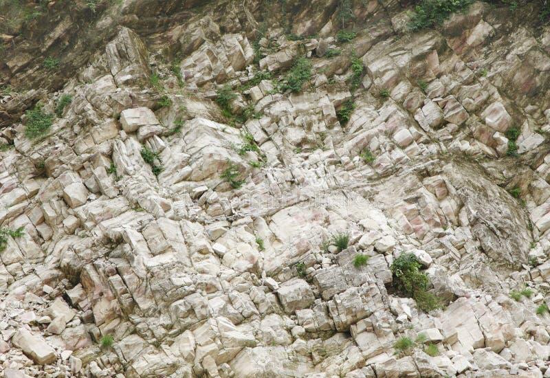 Κινηματογράφηση σε πρώτο πλάνο των μαρμάρινων βράχων κατά μήκος του Narmada ποταμού, Jabalpur, Ινδία στοκ φωτογραφία με δικαίωμα ελεύθερης χρήσης