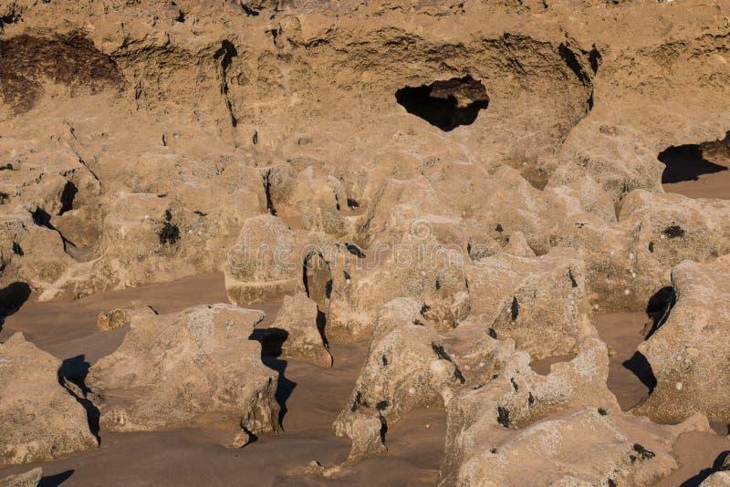 Βράχοι στην ακτή του Ατλαντικού Ωκεανού στοκ εικόνα