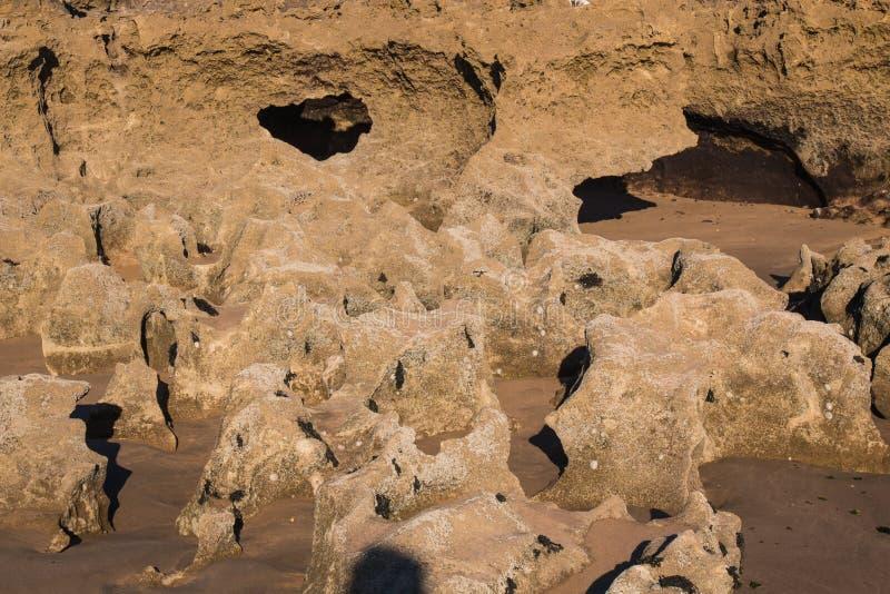 Βράχοι στην ακτή του Ατλαντικού Ωκεανού στοκ εικόνες