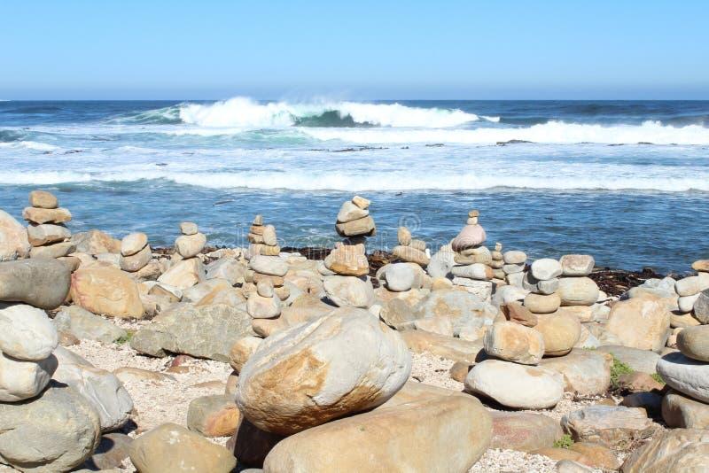 Βράχοι στο ακρωτήριο της καλής ελπίδας στοκ φωτογραφία