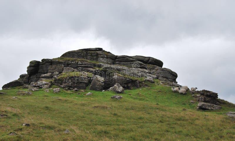 Βράχοι στο εθνικό πάρκο Dartmoor στοκ εικόνα με δικαίωμα ελεύθερης χρήσης