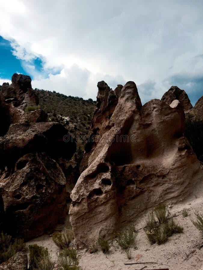 Βράχοι στο Νέο Μεξικό στοκ εικόνες