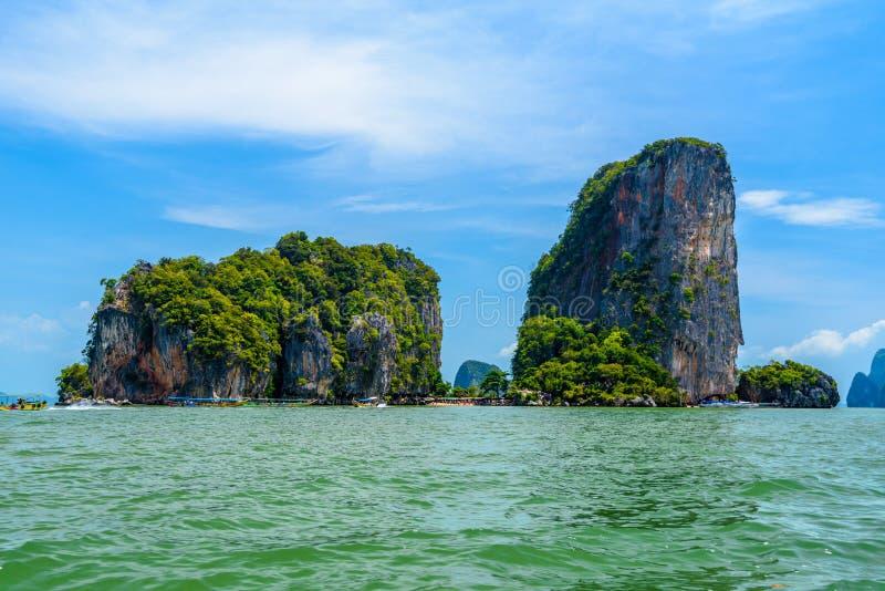 Βράχοι στο νησί του James Bond, Khao Phing Kan, Ko Tapu, AO phang-NG στοκ φωτογραφία