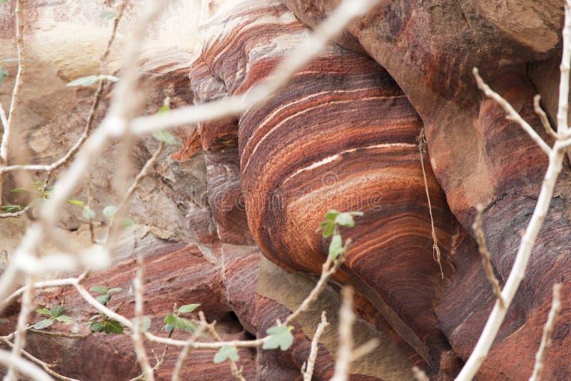 Βράχοι της Petra, Ιορδανία στοκ φωτογραφίες