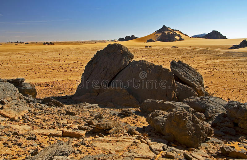 βράχοι τοπίων ερήμων στοκ εικόνες
