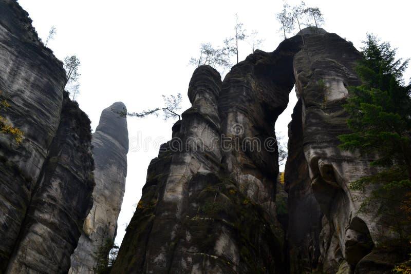 Βράχοι adrspach-Teplice ψαμμίτη στοκ φωτογραφίες με δικαίωμα ελεύθερης χρήσης