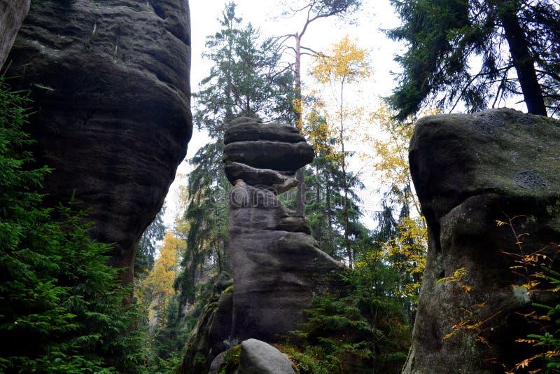 Βράχοι adrspach-Teplice ψαμμίτη στοκ εικόνα με δικαίωμα ελεύθερης χρήσης