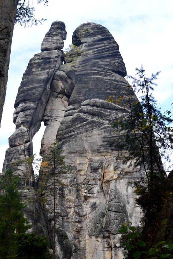 Βράχοι adrspach-Teplice ψαμμίτη στοκ εικόνες με δικαίωμα ελεύθερης χρήσης