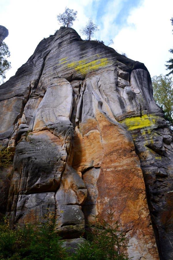 Βράχοι adrspach-Teplice ψαμμίτη στοκ φωτογραφία με δικαίωμα ελεύθερης χρήσης