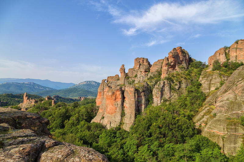 Βράχοι Belogradchik στα ξημερώματα στοκ εικόνες