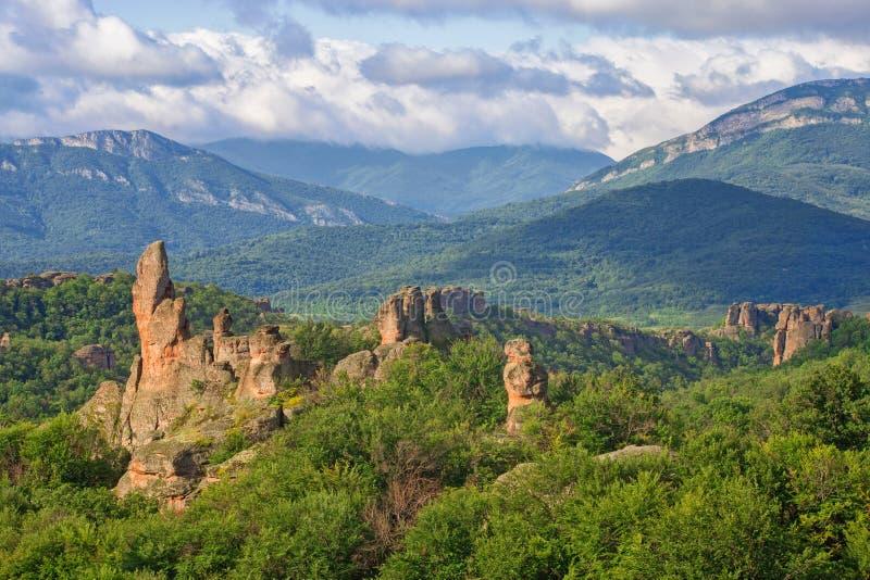 Βράχοι Belogradchik στα ξημερώματα στοκ φωτογραφία με δικαίωμα ελεύθερης χρήσης