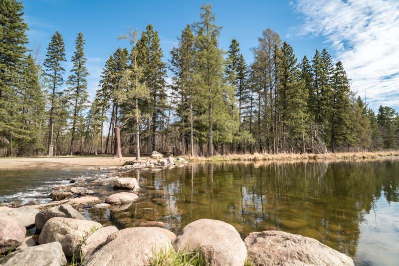 Βράχοι Headwaters ποτάμι Μισισιπή στοκ φωτογραφία με δικαίωμα ελεύθερης χρήσης