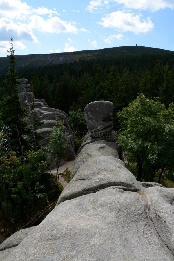 Βράχοι Pielgrzymy στα βουνά Karkonosze στοκ φωτογραφίες με δικαίωμα ελεύθερης χρήσης