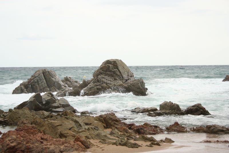 βράχος ακτών στοκ φωτογραφίες