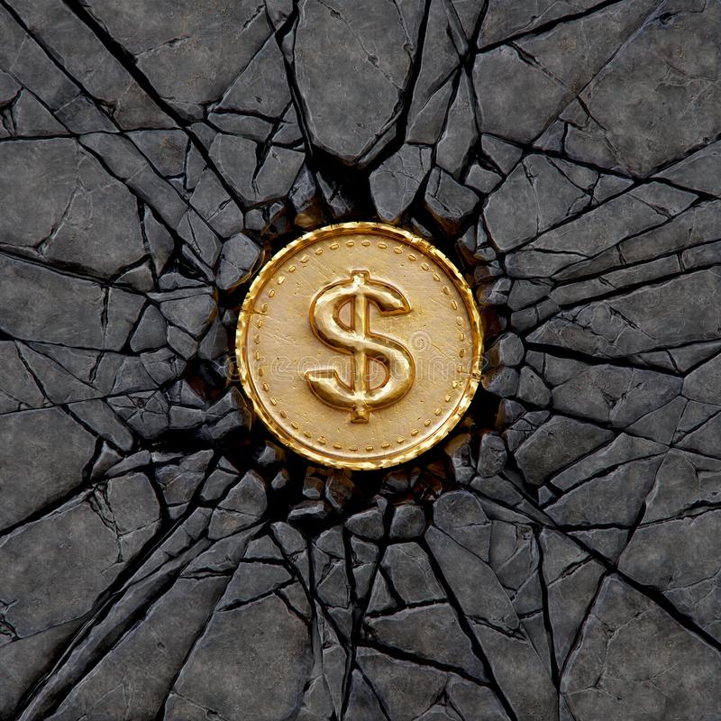 Βράχος δολαρίων ελεύθερη απεικόνιση δικαιώματος