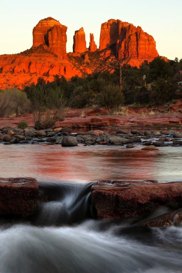 Βράχος καθεδρικών ναών, Sedona, Αριζόνα στοκ εικόνες με δικαίωμα ελεύθερης χρήσης