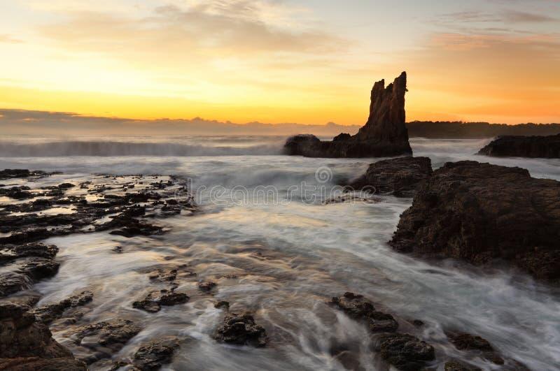 Βράχος καθεδρικών ναών ανατολής, νότια παράλια, Αυστραλία στοκ εικόνες με δικαίωμα ελεύθερης χρήσης