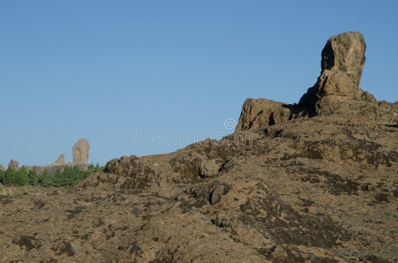 Βράχος και Roque Nublo στοκ φωτογραφία