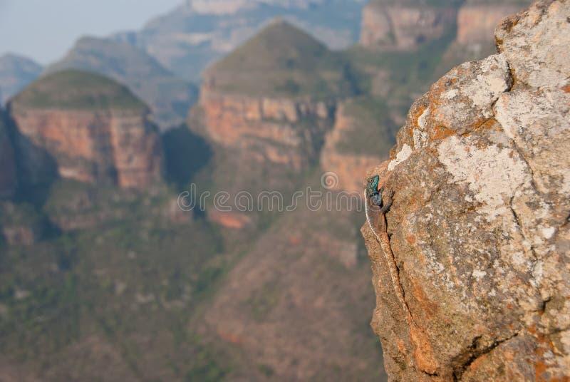 Βράχος με μια άποψη στοκ εικόνες με δικαίωμα ελεύθερης χρήσης