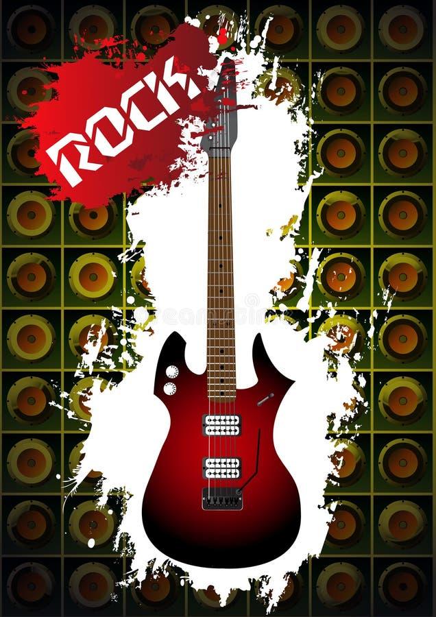 βράχος μουσικής κιθάρων &alph απεικόνιση αποθεμάτων