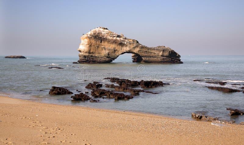 βράχος Μπιαρίτζ στοκ φωτογραφίες