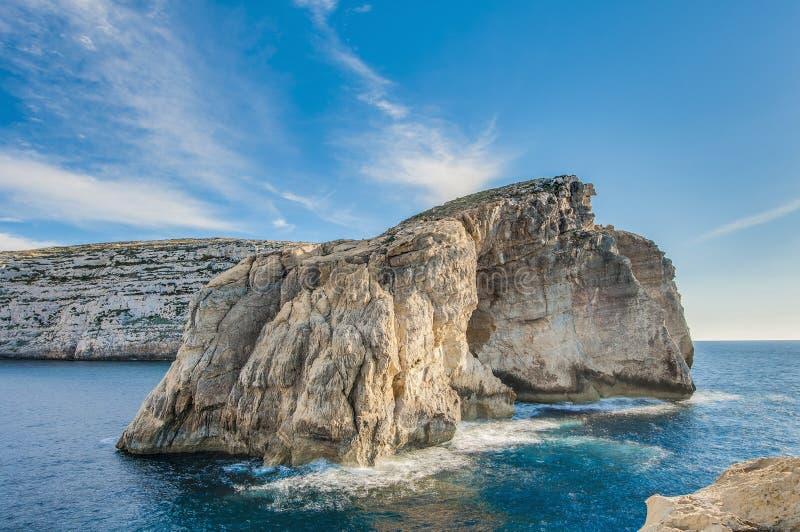 Βράχος μυκήτων, στην ακτή Gozo, Μάλτα στοκ φωτογραφία με δικαίωμα ελεύθερης χρήσης