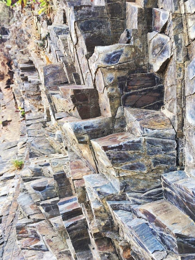 Βράχος πλακών στοκ φωτογραφία