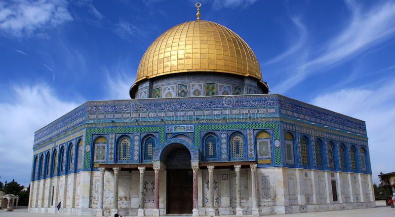 βράχος της Ιερουσαλήμ θό&l στοκ φωτογραφία