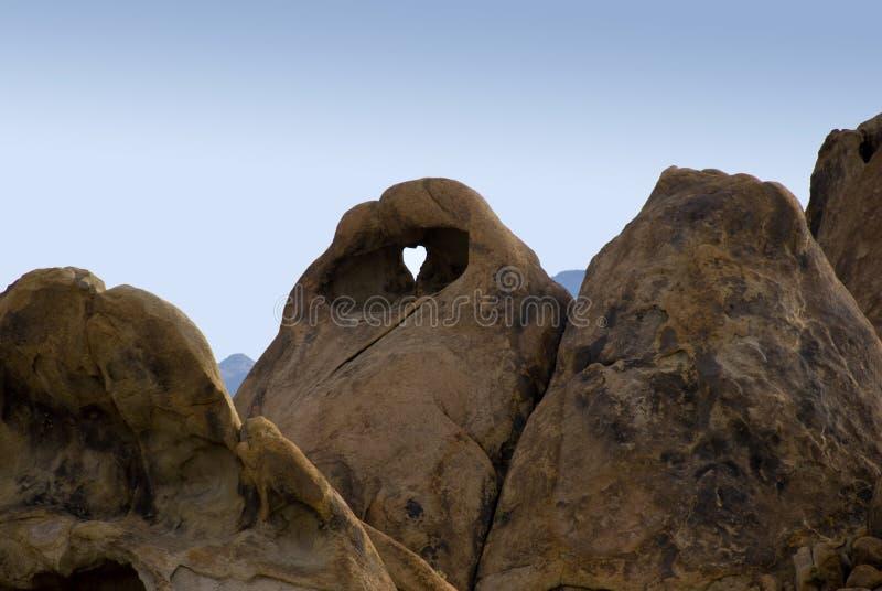 βράχος τρυπών καρδιών που &delt στοκ εικόνες