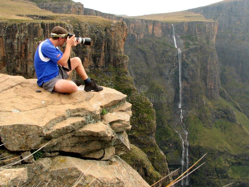 βράχος φωτογράφων στοκ φωτογραφία με δικαίωμα ελεύθερης χρήσης