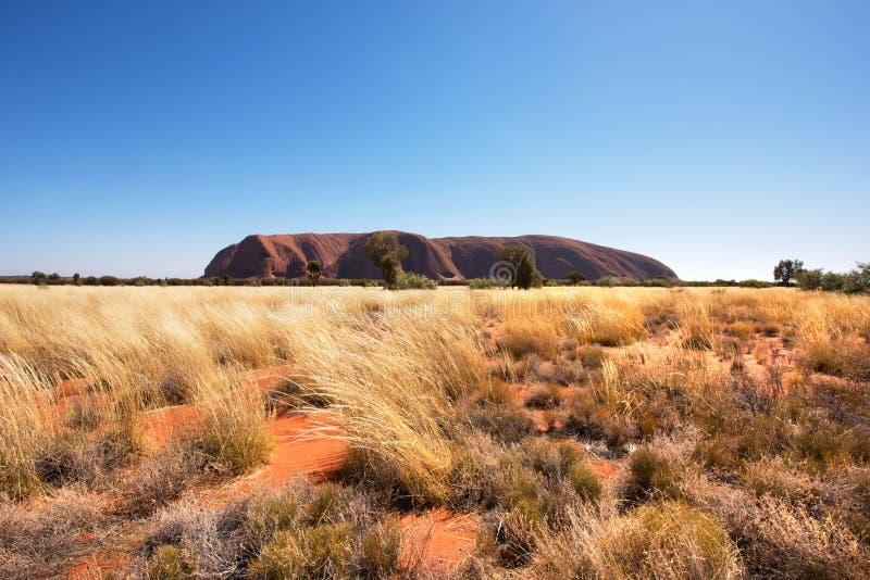 Βράχος Ayers Uluru, Βόρεια Περιοχή, Αυστραλία στοκ φωτογραφία με δικαίωμα ελεύθερης χρήσης