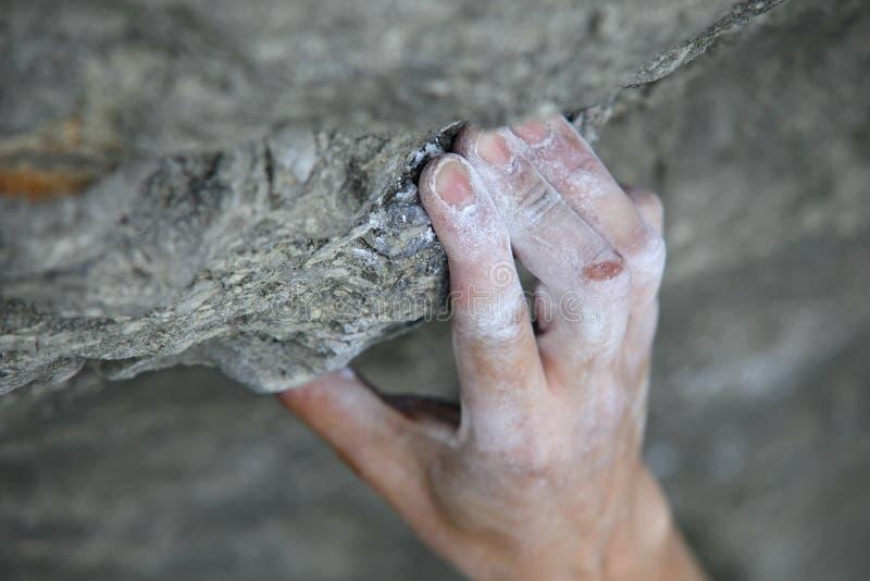 βράχος s λαβών χεριών ορειβ στοκ εικόνες