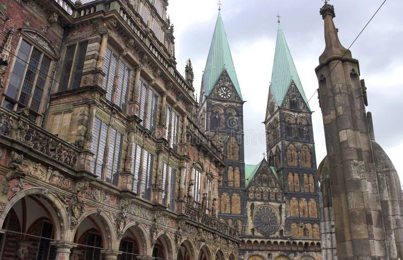 Βρέμη - townhall και καθεδρικός ναός - ΙΙΙ - στοκ εικόνες με δικαίωμα ελεύθερης χρήσης