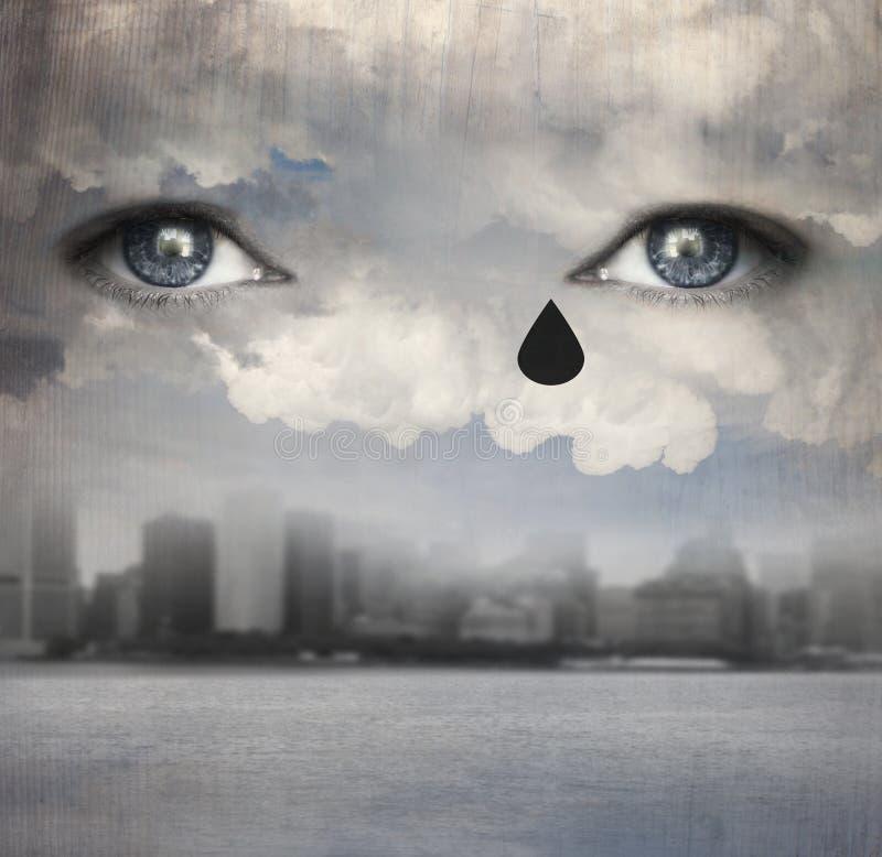Βρέχοντας δάκρυα απεικόνιση αποθεμάτων