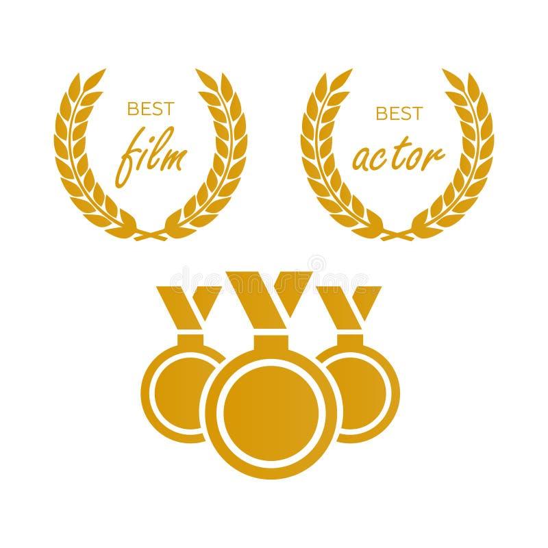Βραβεία για την καλύτερη ταινία Διορισμός βραβείων Βραβείο μεταλλίων για το β ελεύθερη απεικόνιση δικαιώματος