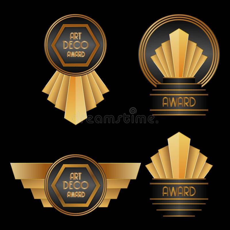 Βραβεία του Art Deco απεικόνιση αποθεμάτων